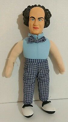 The Three Stooges Larry Plush w/Hard Plastic Head Play By Play Ace Acme 1999