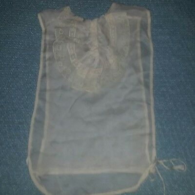 Antique Victorian Chemise Camisole Cotton Lace Reenactment Costume Steampunk
