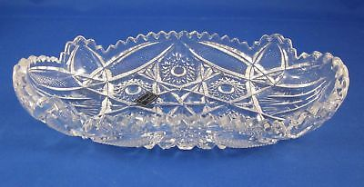 Lenox Imperial Crystal Oval Relish Dish with Sawtooth Edge