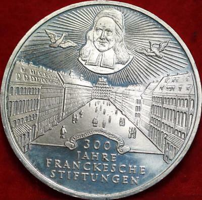 Uncirculated 1998 Germany 10 Mark Foreign Silver Coin Free S/H