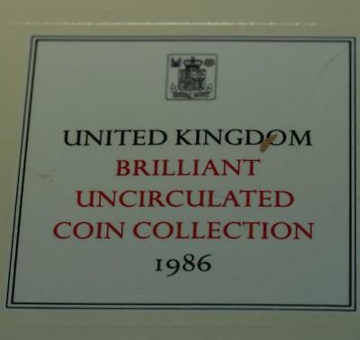 Uncirculated 1986 United Kingdom Brilliant Coin Collectoin Free S/H