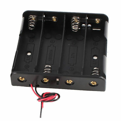 New Style Black Plastic Battery Holder Case 1 Pcs w Wire for 4 x 18650 14.8V LW