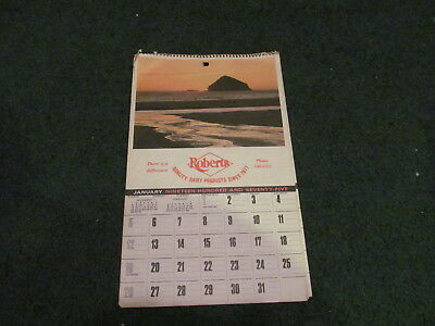 1975 Roberts Dairy Products Calendar-Complete