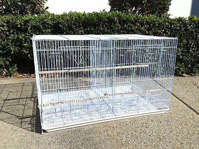 Large Aviary Breeding Finch Parakeet Flight Bird Cage With Center Divider - 159