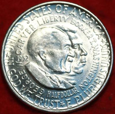 Uncirculated 1952 Philadelphia Mint Washington/Carver Silver Comm Half Free S/H