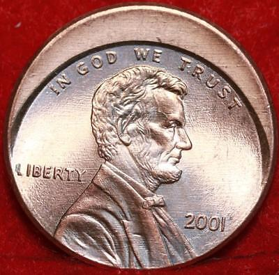 Uncirculated Red 2001 Philadelphia Mint Lincoln Cent Off Center Error Free S/H
