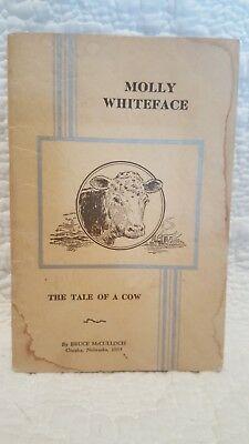 1935 Union Stock Yards Omaha Giveaway storybook - Molly Whiteface (tale of a cow