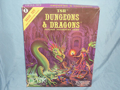 The Vintage 1st Ed Dungeons and Dragons Boxed -  BASIC SET (Very Hard to Find!!)