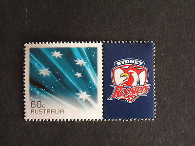 2013 Nrl Football Stamp With Tab Mint Sydney Roosters