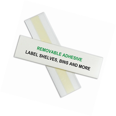 C-Line HOL-DEX Removable Peel and Stick Shelf/Bin Label Holders, 1.5 x 6 Inches,