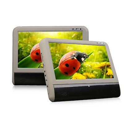 "9"" Portable Car Headrest Monitor Stereo Touchscreen DVD Player SD/USB/FM/Games F"