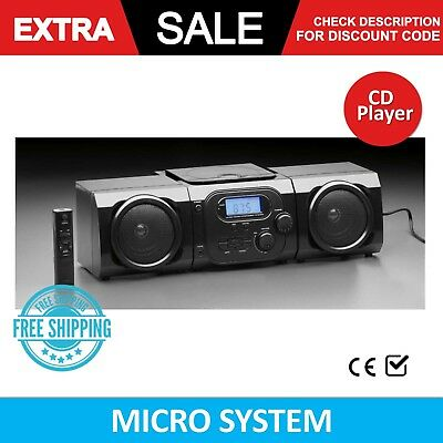 Micro System CD Stereo Player Portable AM FM Digital Radio LCD Boombox MP3 Music