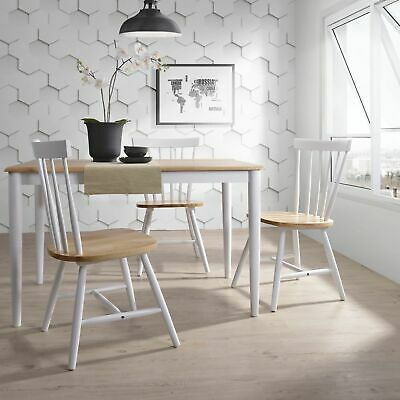 CLAUS 1.5M 6 Seater Dining Table Danish Solid Timber Furniture Natural Oak White