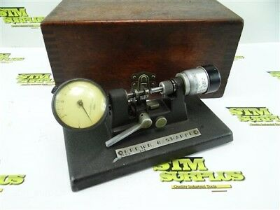 """Brown And Sharpe Precision Bench Micrometer .0001"""" W/ Case Model 245"""