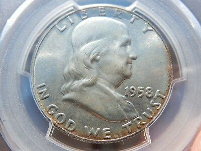 1958-d PCGS graded MS66 Franklin 50c tough (near FBL) FREE shipping, NEVER tax!!