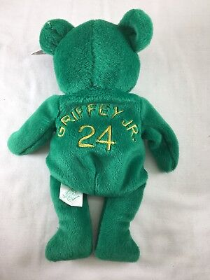 Salvino Bammer's Plush Beanie BEAR MLB Ken Griffey Jr Green