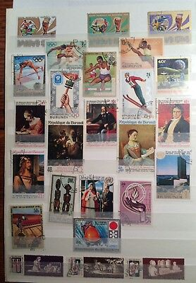 postage stamps Burundi lot of 25         O