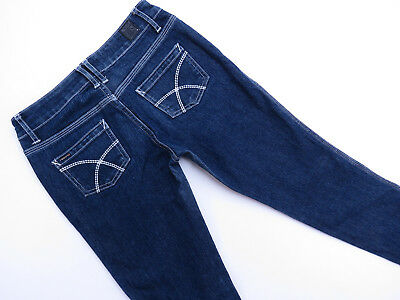 E-171 Ladies Lee Riders Stretch Low Rise Skinny Blue Denim Jeans Size 8