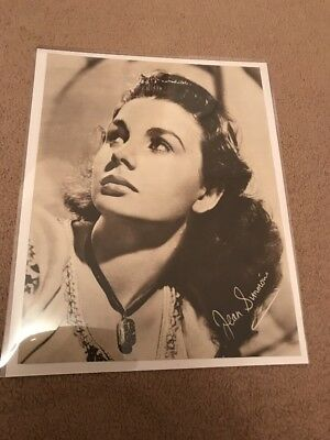 VINTAGE JEAN SIMMONS PEGGY CUMMINS ORIGINAL 1940's PHOTO PICTURE B/W SIGNED