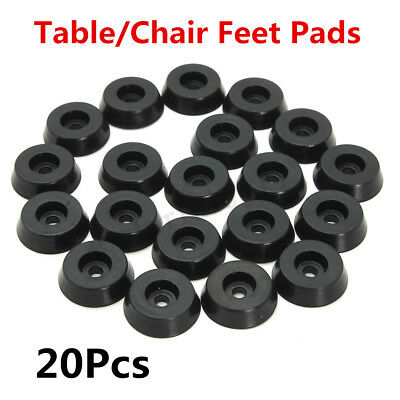 20/40x 18mm Rubber Table Chair Leg Feet Floor Pads Skid Bumper Glide Protector