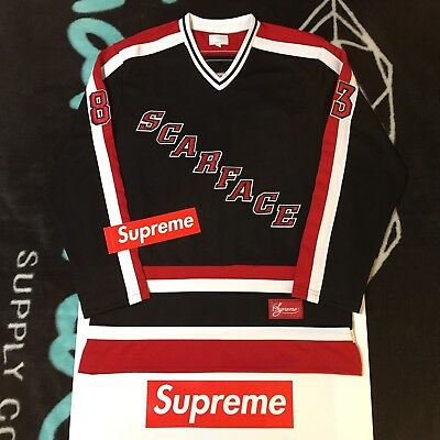 8c6c92aa8454 Supreme Scarface Hockey Jersey (Black) (Large) Fw17 The World Is Yours Lamp