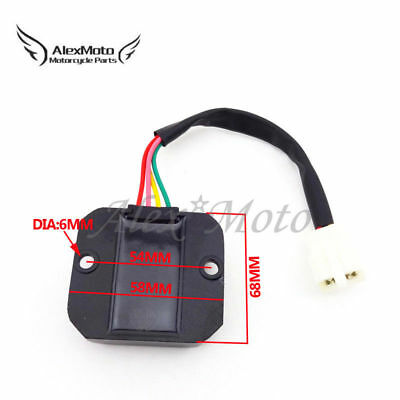 4 Wire Male Plug Voltage Regulator Rectifier For 50 125 150cc Moped Scooter Moto