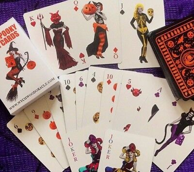 Halloween Playing Cards. Halloween. Poker. Spooky. Macabre. Day Of The Dead.