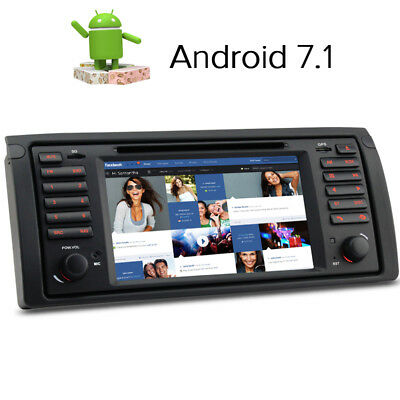 Android 7.1 Car DVD Player sat nav GPS FOR BMW 5 series E39 E53 X5   DAB+