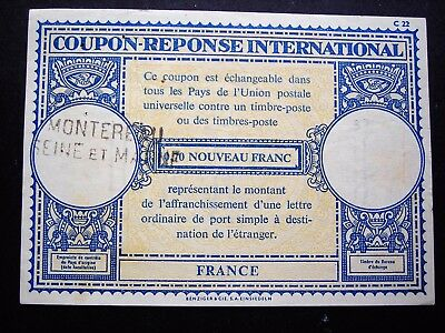 Superbe COUPON Réponse INTERNATIONAL  de MONTEREAU