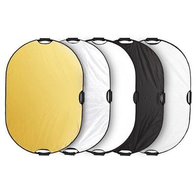 60x90cm Meking Light Mulit Collapsible Portable Photography 5in1 Reflector Disc