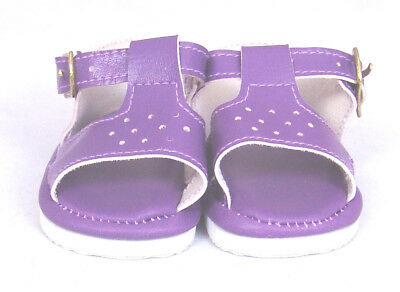 Purple Sandals Doll Shoes 4 Baby Alive / Baby Born / Baby Born Sister