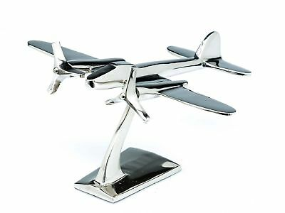 Model aeroplane - mini aircraft in art deco style - nickel-plated aluminium