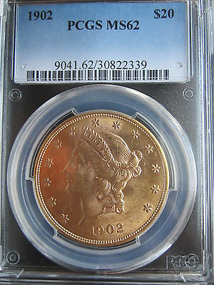 low mintage    20 Dollars 1902       PCGS MS62          (  #A12 )