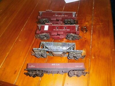 Triang 00 Lot, Brick Wagon, Transcontinental Hopper and Caboose