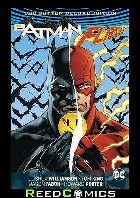 BATMAN FLASH THE BUTTON DELUXE *US EDITION* HARDCOVER Hardback Collect Crossover
