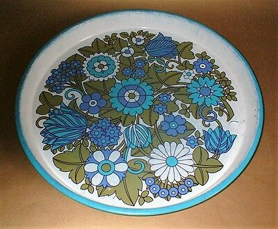 1970's VINTAGE FLOWER POWER TIN SERVING TRAY - Collectable funky cool retro