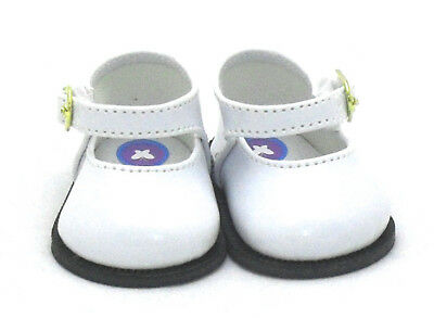 White Patent Doll Shoes 4 Baby Alive / Baby Born / Baby Born Sister