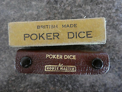 Vintage 2 sets Poker Dice..1 set  House Martin  1 set British Made..