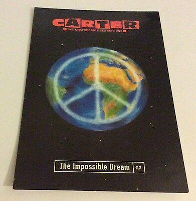 Carter the Unstoppable Sex Machine Impossible Dream EP promotional postcard