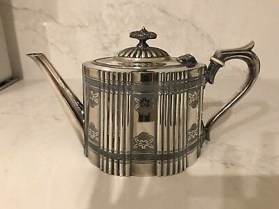 Antique Victorian Silver Plated Teapot