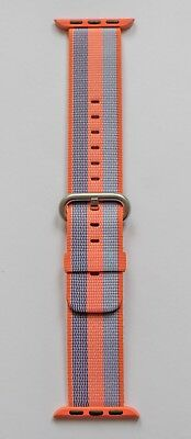 Apple Watch 38mm Orange Stripe Woven Nylon Strap - Genuine Apple Product