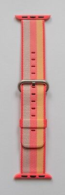 Apple Watch 38mm Red Stripe Woven Nylon Strap - Genuine Apple Product