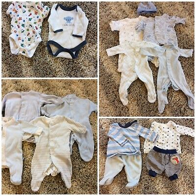 Baby Boy Tiny Baby / Premature Clothes Bundle from Next, Disney, M&S, Mothercare