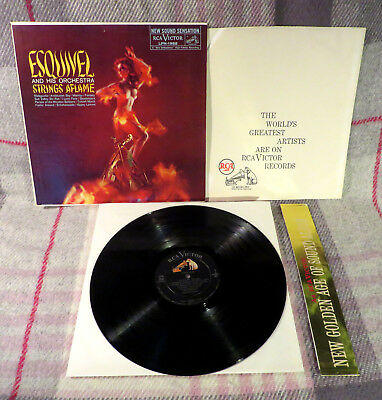 ESQUIVEL And His Orchestra: Strings Aflame LP (+inner + strip) 1959 USA