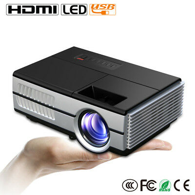 1500Lumens Portable Mini LED Projector HD Home Cinema DVD Xbox Game TV HDMI Gift