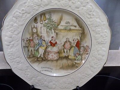Crown Ducal Florentine plate Xmas eve at Mr Wardles A L Stanmore Dickens
