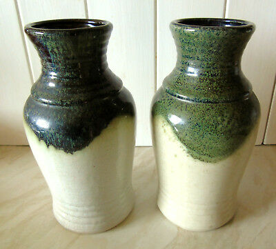 Pair of Vintage Bay 630 20 Lava Vases - Made in West Germany c.1970s