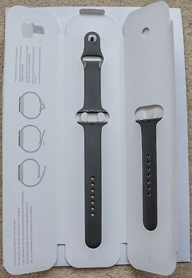 Apple Watch 42mm Black Sport Band - S/M & M/L - Genuine Apple Product