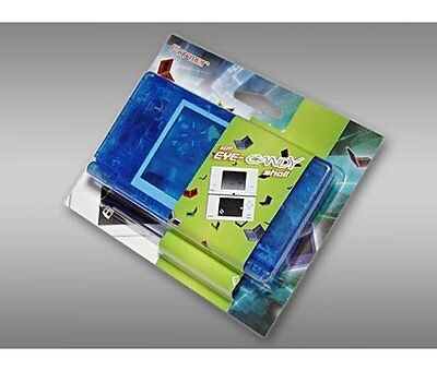 NINTENDO DSi REPLACEMENT CONSOLE CASE SHELL HOUSING CRYSTAL BLUE