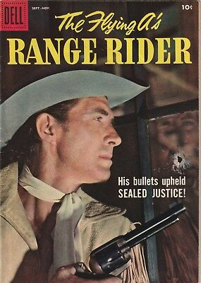 The Flying A's Range Rider  Number 23 .dell Comics 1958. Tv Related Western